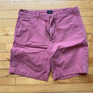 """J Crew pink-red Stanton shorts- 9"""" inseam"""